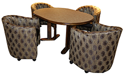 Club Caster Chairs 42x42x60 Table