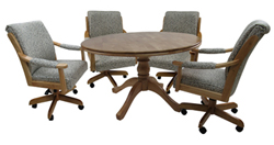 Casa Plus Caster Chairs 48inch Table