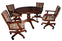 Coco Caster Chairs with Wood Table
