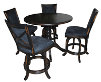 5 Piece Mango Stools Counter Height Pub Set